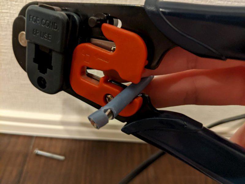 LAN配線DIY 銅線皮剥き かしめ工具